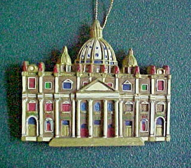 CATHEDRALS OF THE WORLD CHRISTMAS ORNAMENT St. Peter's Basilica Rome, Italy - CATHEDRALS OF THE WORLD CHRISTMAS ORNAMENT St. Peter's Basilica Rome
