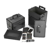Abody 2 In 1 Aluminum Rolling Makeup Train Case Black 3 Detachable Layers F3n7 on sale