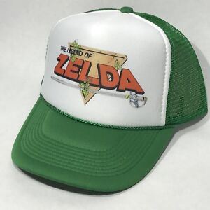 bf0d512e Details about Legend Of Zelda Nintendo Video Game 80's Trucker Hat Retro  Snapback Foam Cap Grn