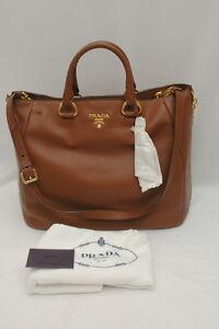 d28c264ba193ad Image is loading NWT-Prada-Vitello-Daino-Leather-Shopping-Satchel-Shoulder-