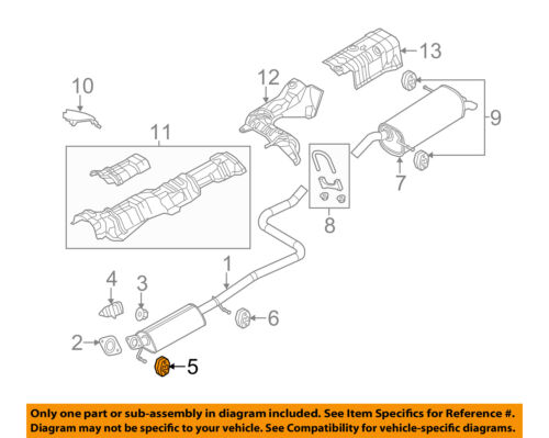FORD OEM 11-18 Fiesta 1.6L-L4 Exhaust-Rear Insulator BE8Z5A262B