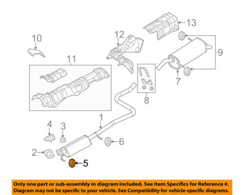 FORD OEM 11-18 Fiesta 1.6L-L4 Exhaust-Rear Insulator BE8Z5A262B