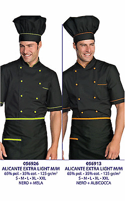 giacca cuoco alicante nero verde mela pol cot