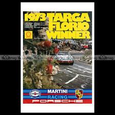 #phpb.002006 Photo PORSCHE 911 1973 MARTINI RACING TARGA FLORIO Advert Reprint