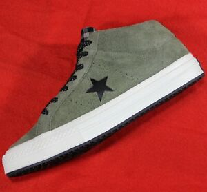 CONVERSE-One-Star-Mid-Counter-Climate-SAMPLE-Green-Suede-Shoes-161573C-Men-039-s-9