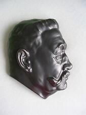 Wandmaske Wall Mask Relief Paul von Hindenburg Meissen Teichert-Werke Schwarz