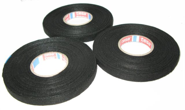 3x Tesa Motor Vehicle Fabric Tape with Fleece 51608 9mm x 25m Adhesive Mwst. New