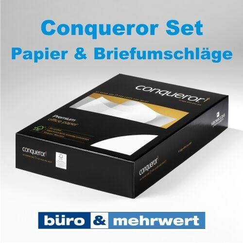 Conqueror Glatt Brilliantweiß Briefpapier Set A4 100g Papier C6 Briefumschläge