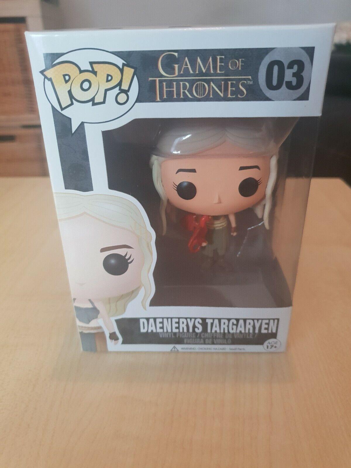 Game of Thrones Funko  Pop Vinyl RARE ERROR  3 Daenerys Targaryen With rouge Dragon  livraison rapide