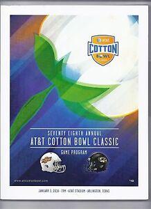 2014 Cotton Bowl Game Program Missouri Oklahoma State