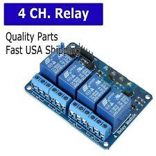 New Listing4 Channel 5v Relay Shield Module Board For Arduino Raspberry Pi Arm Avr Cn