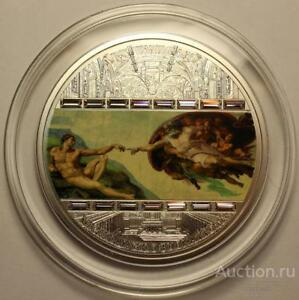 Sale-Cook-Islands-20-2008-CREATION-of-ADAM-Masterpieces-of-Art-999-Silver