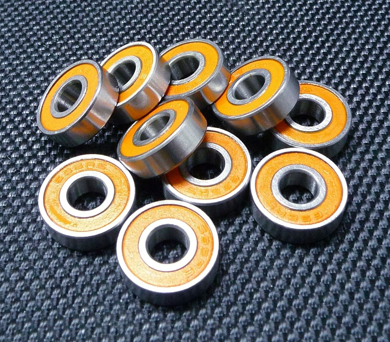 [100 PCS] MR126-2RS (6x12x4 mm) Rubber Ball Bearings Bearing orange 6124