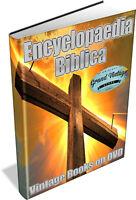 ENCYCLOPEDIA BIBLICA ~ Vintage Encyclopedias on DVD, Encyclopaedia Bible History