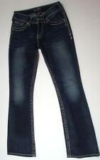 silver suki jeans 26 32 dark wash s pocket womens denim western glove works