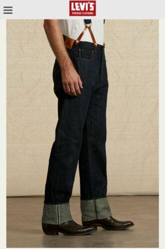 Denim Raw Lvc W37 Bnwot 1890xx Brace Selvedge 501 Jeans Levis £225 L38 Vintage fYxE11