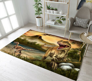 Details About Ancient Dinosaur Volcano Home Area Rugs Kids Room Soft Carpet Modern Floor Mat