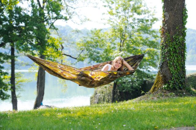 Amazonas Travel Set Camouflage Reise-Camping Hängematte ultraleicht wetterfest
