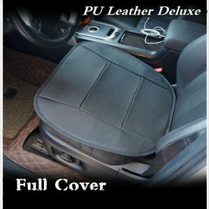 PU-Leather-Deluxe-Car-Cover-Seat-Protector-Cushion-Black-Front-Cover-Universal