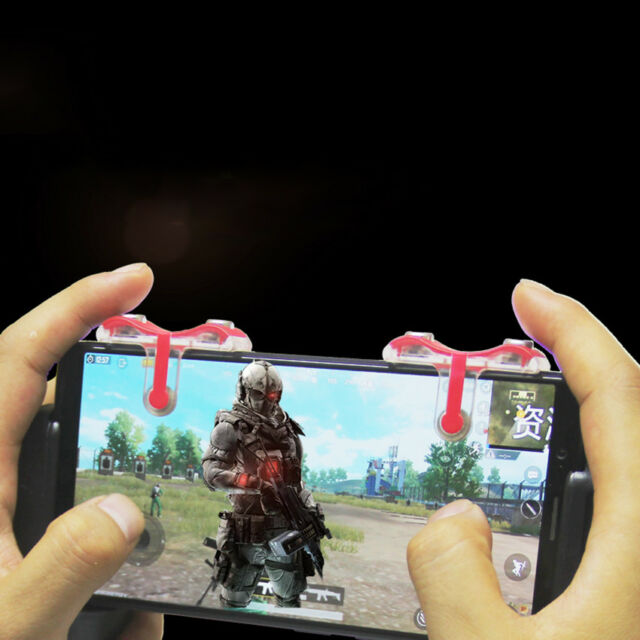 METAL L1R1 PUBG Mobile Game Controller Shooter Trigger Fire Button for Gaming