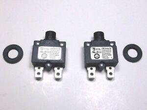 4 Carling Brand Push to Reset Panel Mount 15 amp Circuit Breakers
