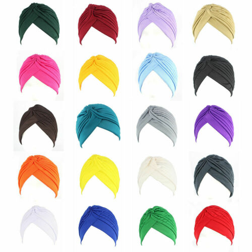 NEW TURBAN STYLE Head Wrap Head cover Hat Bandana Scarf Hair Loss Chemo Cap ^Tur