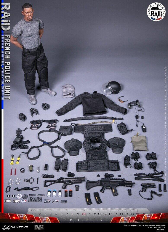 DAMTOYS 1 6th 78061 French Police Unit  - RAID In Paris Action Figure Collectible  10 jours de retour