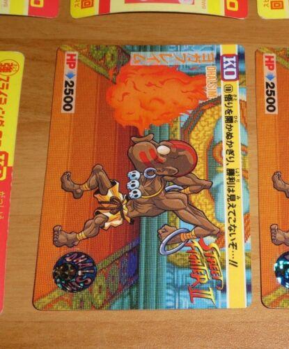 STREET FIGHTER II 2 KO TRADING CARDDASS CARD REG CARTE 10 JAPAN 1992 NM