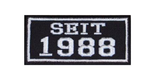 Seit 1988 Biker Patches Aufnäher Jahr Since MC Motorrad Rocker Kutte Club MFG BC