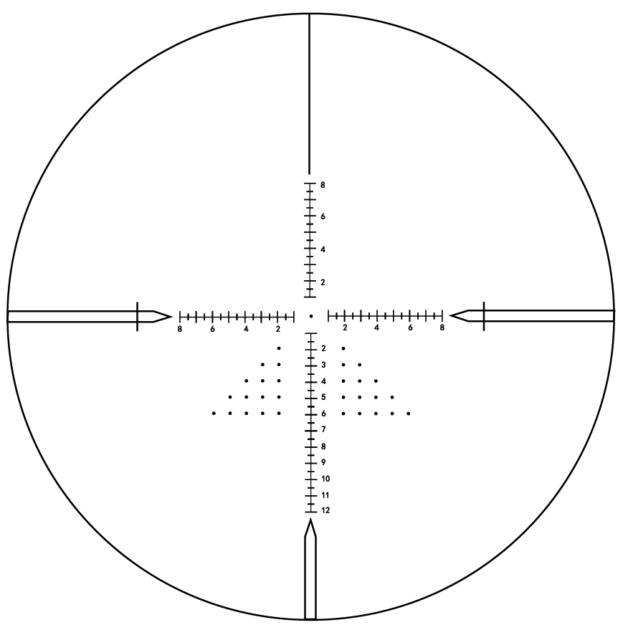 Visionking 3-12x42 FFP Rifle Scope Mil dot 30mm Tube Shooting Sight  Hunting