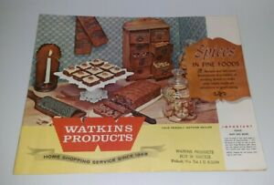 Vintage 1940s Watkins Sales Advertising Catalog Mary King Vitamin Spices Recipes