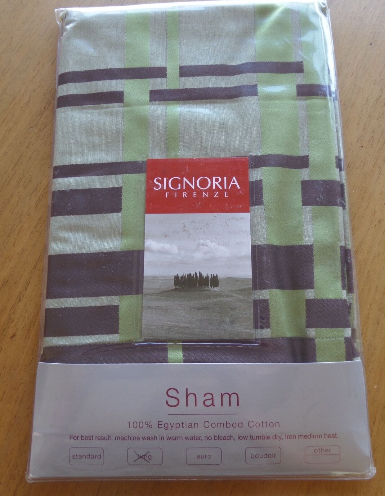 Signoria di Firenze King Madison Sham 100% Egyptian Cotton Made in