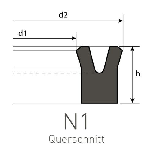 Nutring 14 x 22 x 5 mm aus NBR Profil NN-1