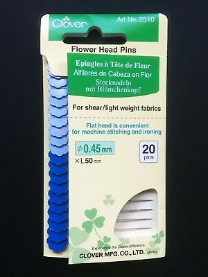 Alarm Clover Fine Flower Head Pins 20 X (ø0.45mm X 50mm) 2510 Quilting Design-surgery® Lage Prijs