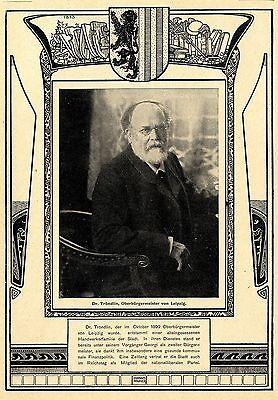 Dr.tröndlin Leipziger Oberbürgermeister Historische Aufnahme Von 1902