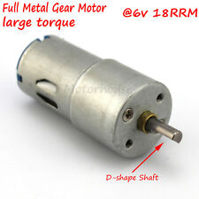 DC 6v 18rpm Full Metal Gear Motor Reduction GA25 Gearbox Large Torque Low Speed