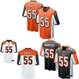Details about Vontaze Burfict Men Jersey White / Black / Orange Bengals