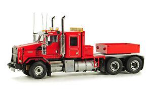 WSI-34-2000-Kenworth-C500B-Heavy-Tractor-w-Ballast-Box-Red-Die-cast-1-50-MIB