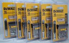 NEW Dewalt 16 Piece Magnetic Drive Guide Set Bits DW2053 (5) Five Pack Free Ship
