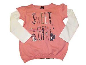 Nuevo-Chicas-Ex-Tienda-Chica-Dulce-L-S-Top-Camiseta-1-7-anos-de-edad-Rosa-Manga-Larga