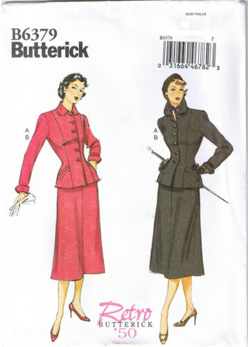 Vtg 50s Retro Princess Seam Jacket Fitted Skirt Sewing Pattern 6 8 10 12 14