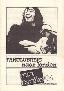 NOTA-BEATLES-1976-nr-104-MAGAZINE-DUTCH-FANCLUB-BEATLES