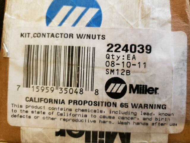Miller 224039 Kit Contactor W//nuts for sale online