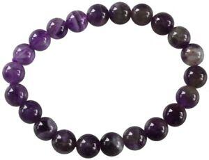 Bracelet Perles Rondes AMETHYSTE - 8 mm