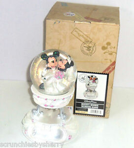Image Is Loading Disney Mickey Minnie Wedding Mouse Musical Snowglobe Theme