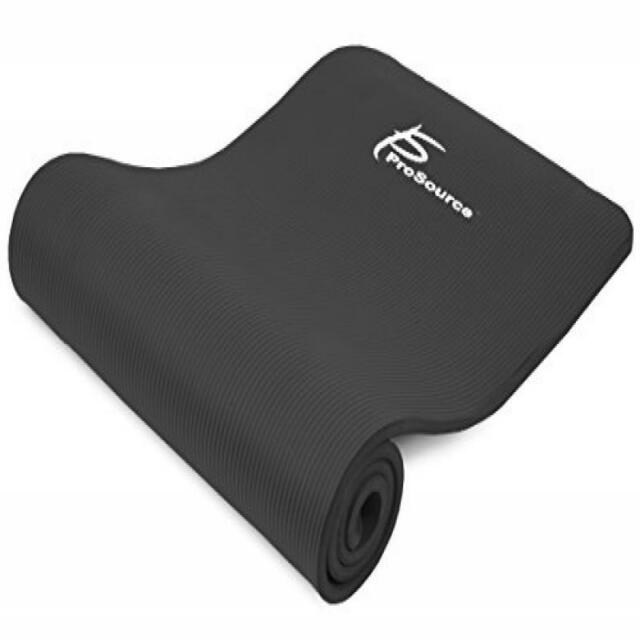 Black Prosource Yoga Pilates P90 Extra Thick Exercise Mat For Sale Online Ebay