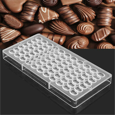 Coffee Bean Shaped Transparent Chocolate Mold DIY Handmade Candy PC Mould Tool