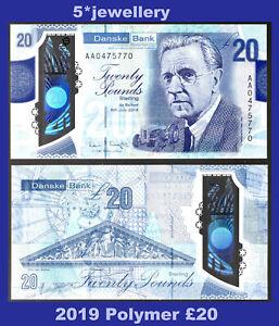 AA 2019 (northern) DANSKE bank ltd belfast £20 banknote N Ireland Polymer money