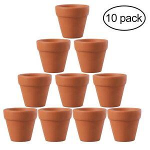 Image Is Loading 10x Mini Clay Ceramic Terracotta Pot Plant Pots