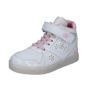 Dettagli su scarpe bambina LULU' 35 EU sneakers rosa bianco pelle vernice BR351 35